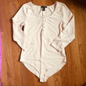 Forever 21 long sleeve snap bodysuit